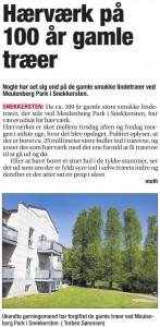 Helsingør Dagblad - Hærværk på træer